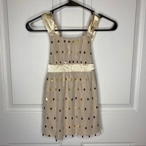 Girls gold justice dress
